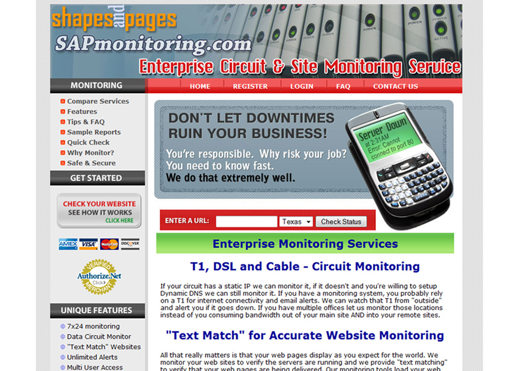 Network, Server and Website Monitoring
